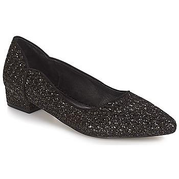 Pantofi Femei Balerin și Balerini cu curea Ravel  Black-glitter