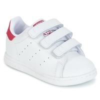 Încăltăminte Fete Pantofi sport Casual adidas Originals STAN SMITH CF I Alb / Roz