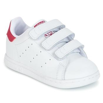 Pantofi Fete Pantofi sport Casual adidas Originals STAN SMITH CF I Alb / Roz