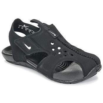 Pantofi Copii Sandale  Nike SUNRAY PROTECT 2 TODDLER Negru / Alb