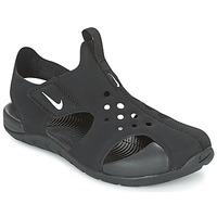 Încăltăminte Băieți Sandale și Sandale cu talpă  joasă Nike SUNRAY PROTECT 2 CADET Negru / Alb