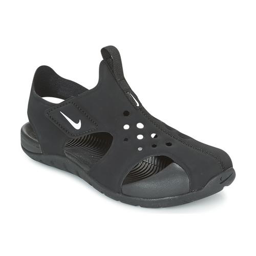 Pantofi Copii Șlapi Nike SUNRAY PROTECT 2 CADET Negru / Alb
