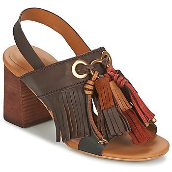 Pantofi Femei Sandale și Sandale cu talpă  joasă See by Chloé SB30102 Maro