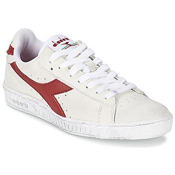 Pantofi Pantofi sport Casual Diadora GAME L LOW WAXED Alb / Roșu