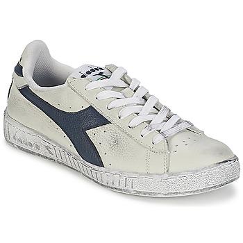 Pantofi Pantofi sport Casual Diadora GAME L LOW WAXED Alb / Albastru