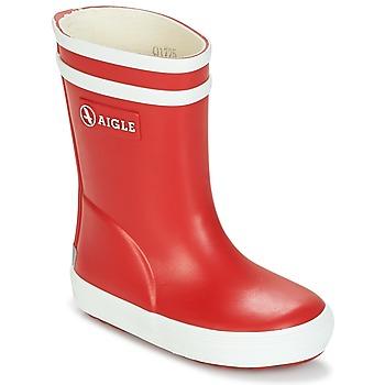 Pantofi Copii Cizme de ploaie Aigle BABY FLAC Roșu / Alb