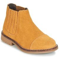 Pantofi Fete Ghete Young Elegant People FILICIA Maro / Galben-grâu