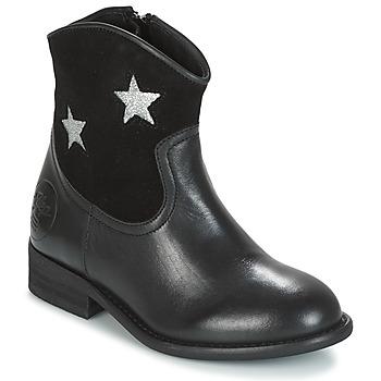 Pantofi Fete Ghete Young Elegant People FARAH Negru