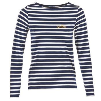 Îmbracaminte Femei Tricouri cu mânecă lungă  Betty London IFLIGEME Bleumarin / Alb