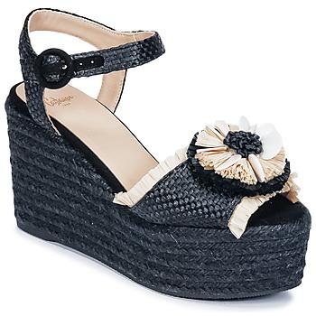 Pantofi Femei Sandale și Sandale cu talpă  joasă Castaner EFEDRA Negru