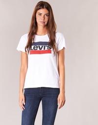 Îmbracaminte Femei Tricouri mânecă scurtă Levi's THE PERFECT TEE Alb