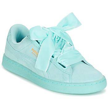 Încăltăminte Femei Pantofi sport Casual Puma SUEDE HEART RESET WN'S Albastru / Pastel