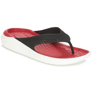 Încăltăminte  Flip-Flops Crocs LITERIDE FLIP Negru / Roșu