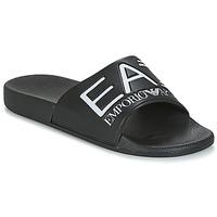 Pantofi Șlapi Emporio Armani EA7 SEA WORLD VISIBILITY M SLIPPER Negru / Alb