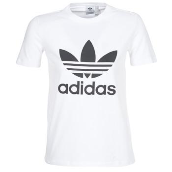 Îmbracaminte Femei Tricouri mânecă scurtă adidas Originals TREFOIL TEE Alb