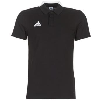Îmbracaminte Bărbați Tricou Polo mânecă scurtă adidas Performance CON18 CO POLO Negru