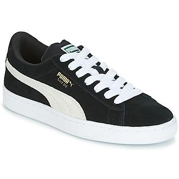 Pantofi Copii Pantofi sport Casual Puma SUEDE JR Negru / Alb