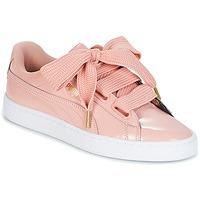 Pantofi Femei Pantofi sport Casual Puma BASKET HEART PATENT W'S Roz