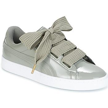Pantofi Femei Pantofi sport Casual Puma BASKET HEART PATENT W'S Gri