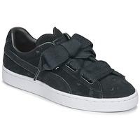 Încăltăminte Fete Pantofi sport Casual Puma SUEDE HEART VALENTINE JR Negru