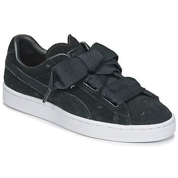 Pantofi Fete Pantofi sport Casual Puma SUEDE HEART VALENTINE JR Negru
