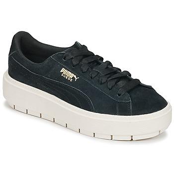Încăltăminte Femei Pantofi sport Casual Puma SUEDE PLATFORM TRACE W'S Negru / Alb