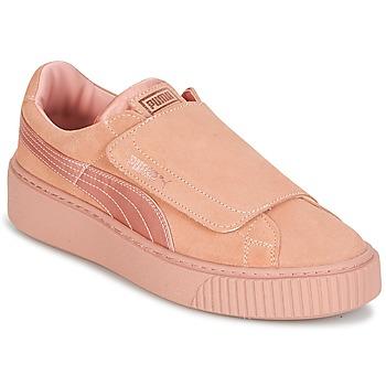 Încăltăminte Femei Pantofi sport Casual Puma PLATFORMSTRAP SATIN EP W'S Roz