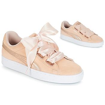 Încăltăminte Femei Pantofi sport Casual Puma SUEDE HEART LUNALUX W'S Roz
