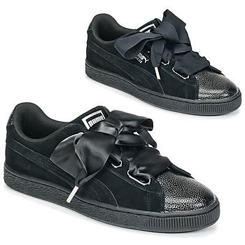 Pantofi Femei Pantofi sport Casual Puma SUEDE HEART BUBBLE W'S Negru