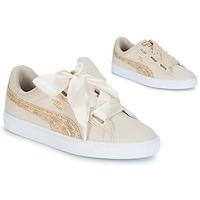 Pantofi Femei Pantofi sport Casual Puma BASKET HEART CANVAS W'S Bej