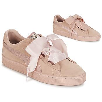 Încăltăminte Femei Pantofi sport Casual Puma W SUEDE HEART EP Roz