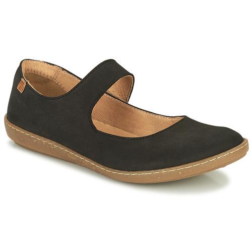 Pantofi Femei Balerin și Balerini cu curea El Naturalista CORAL Negru