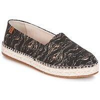 Pantofi Femei Espadrile El Naturalista SEAWEED CANVAS Negru / Gri