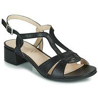 Încăltăminte Femei Sandale și Sandale cu talpă  joasă Caprice SATIBO Negru