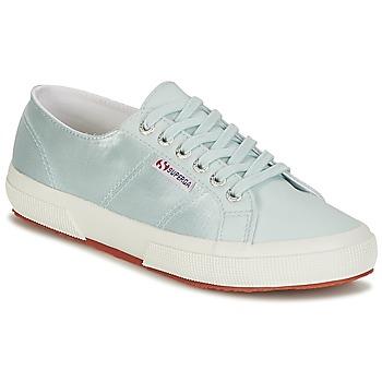 Pantofi Femei Pantofi sport Casual Superga 2750 SATIN W Albastru / Argintiu