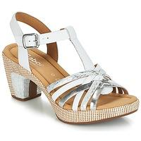 Pantofi Femei Sandale  Gabor MASTIAR Alb / Argintiu