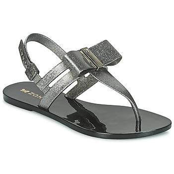 Pantofi Femei Sandale  Zaxy GLAZE SAND AD Argintiu / Negru
