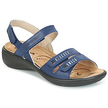 Încăltăminte Femei Sandale și Sandale cu talpă  joasă Romika IBIZA 86 Albastru