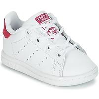 Încăltăminte Fete Pantofi sport Casual adidas Originals STAN SMITH I Alb / Roz