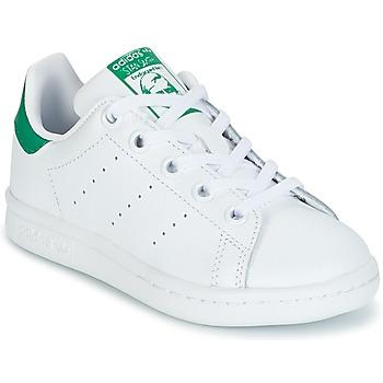 Pantofi Copii Pantofi sport Casual adidas Originals STAN SMITH C Alb / Verde