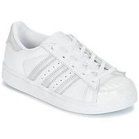 Pantofi Fete Pantofi sport Casual adidas Originals STAN SMITH C Alb / Argintiu