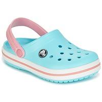Pantofi Fete Saboti Crocs Crocband Clog Kids Albastru / Roz
