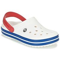 Pantofi Saboti Crocs CROCBAND Alb / Albastru / Roșu