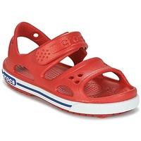 Pantofi Băieți Sandale  Crocs CROCBAND II SANDAL PS Roșu