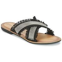 Pantofi Femei Papuci de vară Moony Mood IRTA Negru / Argintiu
