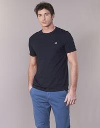 Îmbracaminte Bărbați Tricouri mânecă scurtă Fred Perry RINGER T-SHIRT Albastru