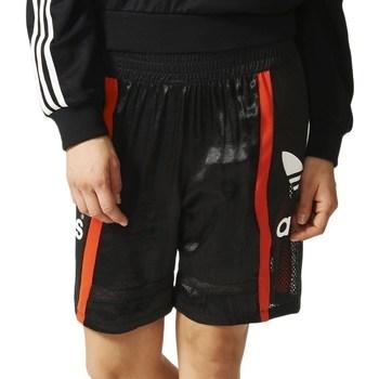 Îmbracaminte Femei Pantaloni scurti și Bermuda adidas Originals Basketball Baggy Negre, Roșii