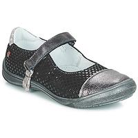 Pantofi Fete Balerin și Balerini cu curea GBB RIKA Negru / Argintiu