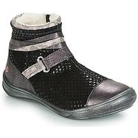 Pantofi Fete Ghete GBB ROCHELLE Negru / Argintiu