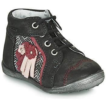 Pantofi Fete Ghete Catimini RAINETTE Negru / Argintiu
